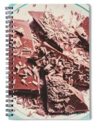 Closeup Of Chocolate Pieces And Shavings On Plate Spiral Notebook