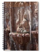 Closeup Of Terracotta Water Fountain In Full Color La Quinta Art District Photograph Spiral Notebook