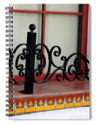 Closeup Of Window Decorated With Terracotta Tiles And Wrought Iron Photograph By Colleen Spiral Notebook