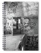 Clothcraft In Black And White Spiral Notebook