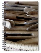 Clothes-pins Spiral Notebook