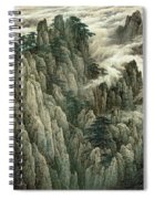 Cloud And Mountain Peak Spiral Notebook