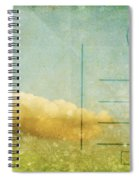 Cloud And Sky On Postcard Spiral Notebook