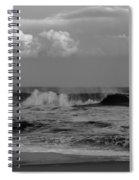 Cloud And Wave Black And White Seaside New Jersey  Spiral Notebook