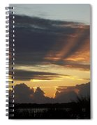 Cloud Cast Glory Spiral Notebook