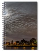 Cloud Covered Moon Spiral Notebook