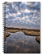 Cloud Covered River 2 Spiral Notebook