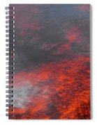 Cloud Fire With Rays Spiral Notebook