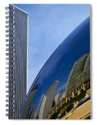 Cloud Gate And Aon Center Spiral Notebook