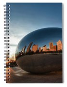 Cloud Gate At Sunrise Spiral Notebook