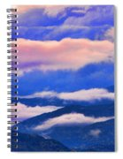Cloud Layers At Sunset Spiral Notebook