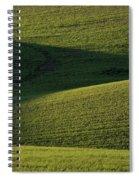Cloud Shadows On New Growing Crop Spiral Notebook