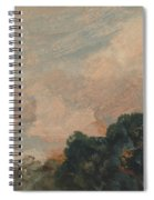 Cloud Study With Trees Spiral Notebook