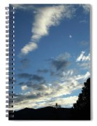 Cloud Sweep And Silhouette Spiral Notebook