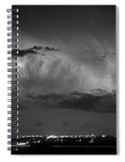 Cloud To Cloud Lightning Boulder County Colorado Bw Spiral Notebook