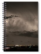 Cloud To Cloud Lightning Boulder County Colorado Sepia Color Mix Spiral Notebook