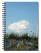 Cloud Trio And Dunes - Huntington Beach Sc Spiral Notebook