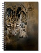 Clouded Leopard On The Hunt Spiral Notebook