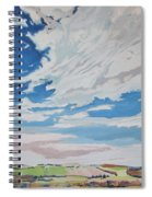 Clouded Sky On The Valley Spiral Notebook