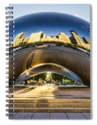Cloudgate In Chicago Spiral Notebook