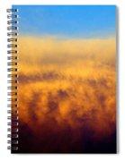 Clouds Ablaze Spiral Notebook