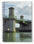 Clouds Above The Bridge Of Lions Spiral Notebook