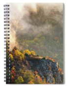 Clouds Above The Crest Of The Mountain Spiral Notebook