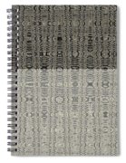 Clouds Abstract Fabric Design Spiral Notebook