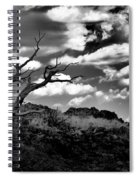 Clouds And A Tree Baw Spiral Notebook
