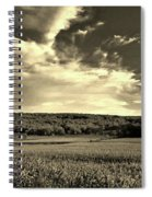 Clouds And Cornfields Spiral Notebook