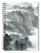 Clouds And Mountains Spiral Notebook