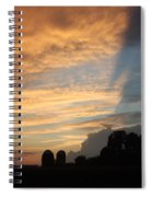 Clouds And Silos  Spiral Notebook