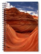 Clouds And Sun Over The Wave Spiral Notebook
