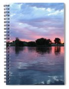 Clouds And Sunset Reflection In Prosser Spiral Notebook