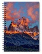 Clouds Around Fitz Roy - Patagonia Spiral Notebook