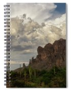 Clouds Bubbling Over The Superstitions  Spiral Notebook