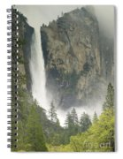 Clouds Hang Over Bridaveil Falls Spiral Notebook