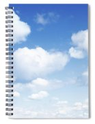 Clouds In Blue Sky Spiral Notebook