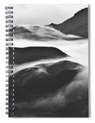Maui Hawaii Haleakala National Park Clouds In Haleakala Crater Spiral Notebook