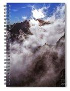 Clouds In The Caldera De Taburiente Spiral Notebook