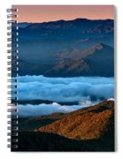 Clouds In The Valley Spiral Notebook
