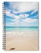 Clouds Over Blue Sea Spiral Notebook