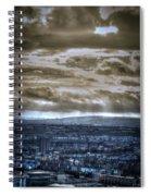 Clouds Over Bristol Hdr Split Toning Spiral Notebook