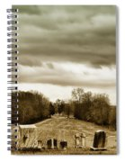 Clouds Over Cemetery Spiral Notebook