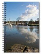 Clouds Over Cockwells Boatyard Mylor Bridge Spiral Notebook