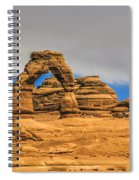 Clouds Over Delicate Arch Spiral Notebook