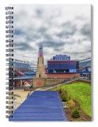 Clouds Over Gillette Stadium Spiral Notebook