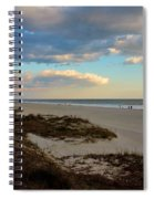 Clouds Over Holden Beach Spiral Notebook