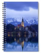 Clouds Over Lake Bled Spiral Notebook