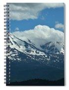 Clouds Over Mt Shasta Spiral Notebook